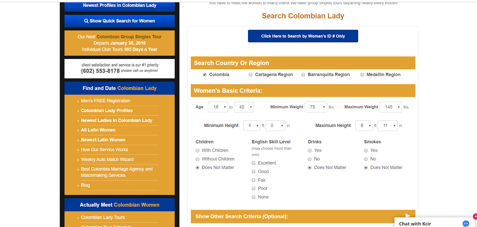 Colombian Lady Review